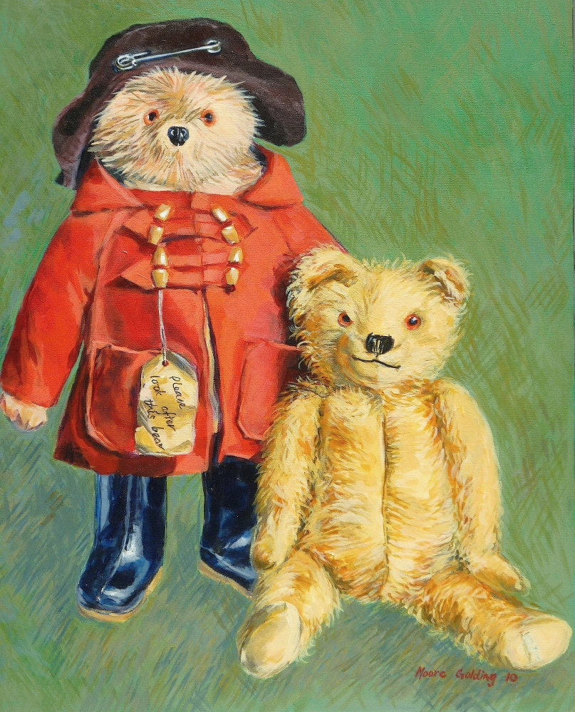 Teddy Bears with Attitude 2.  Acrylic on canvas 60x50x4cms 2010© Commissioned painting.