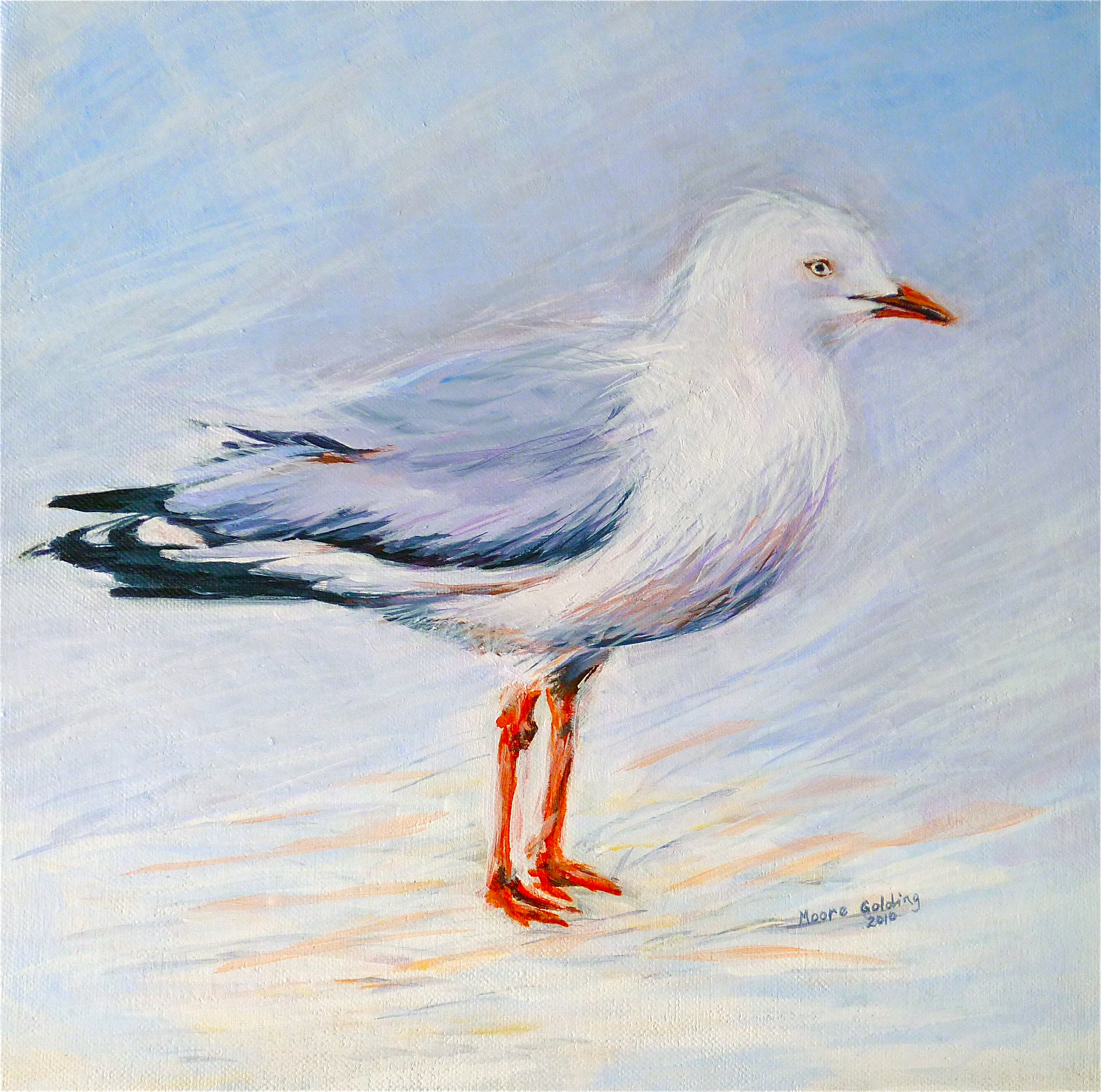 Canvas Painting Seagulls