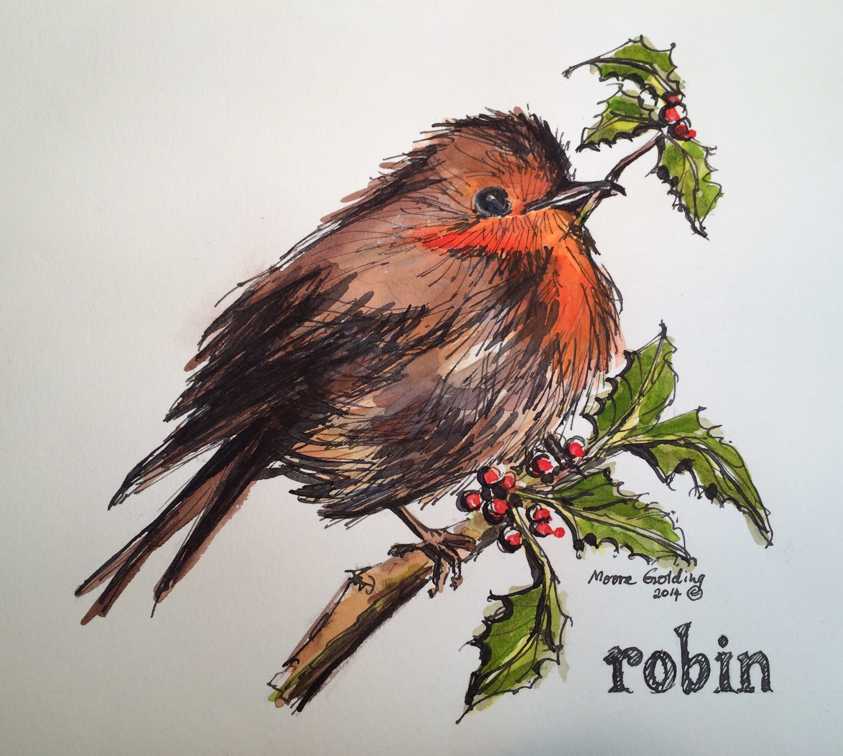 christmas robin elizabeth moore golding 2014 - Is Red Robin Open On Christmas