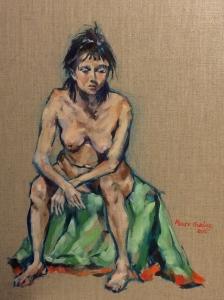 Oil on linen on wood panel 46x36cm.