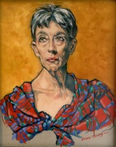A portrait of Anne. Oil on linen on board won Highly Commended in this exhibition.